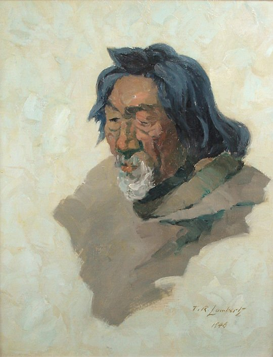 234: Theodore Roosevelt Lambert The Old Eskimo Painting