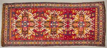 Old Caucasian Oriental Rug with Triple Medallion