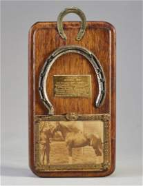 Rare 1919 Man-O-War Horseshoe in Belmont Futurity