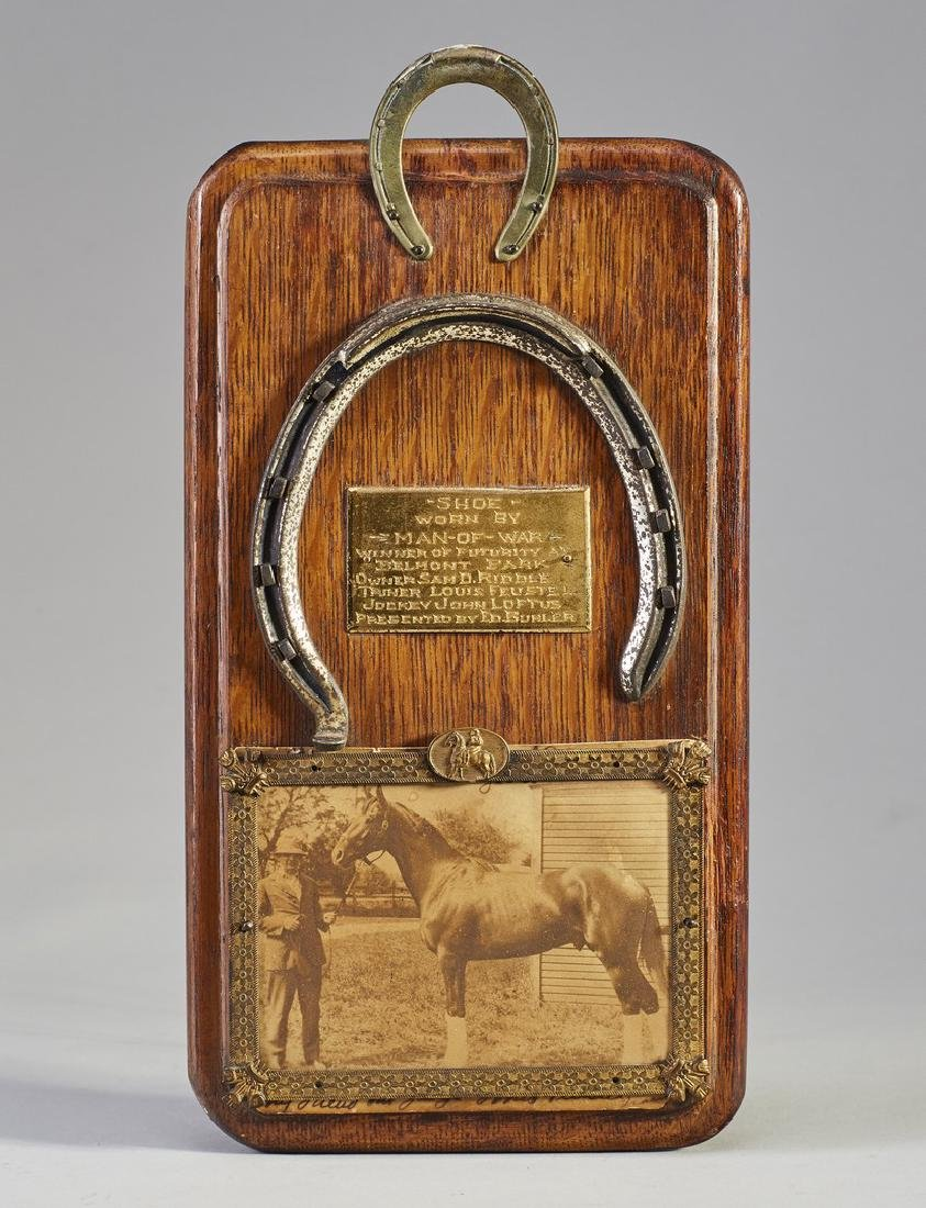 Rare 1919 Man-O-War Horseshoe in Belmont Futurity