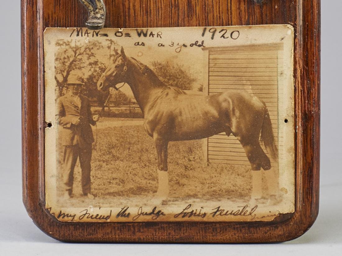 Rare 1919 Man-O-War Horseshoe in Belmont Futurity - 2
