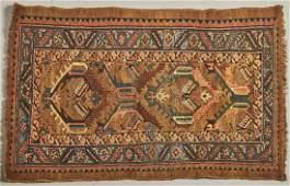 Old Caucasian Design Handmade Oriental Rug