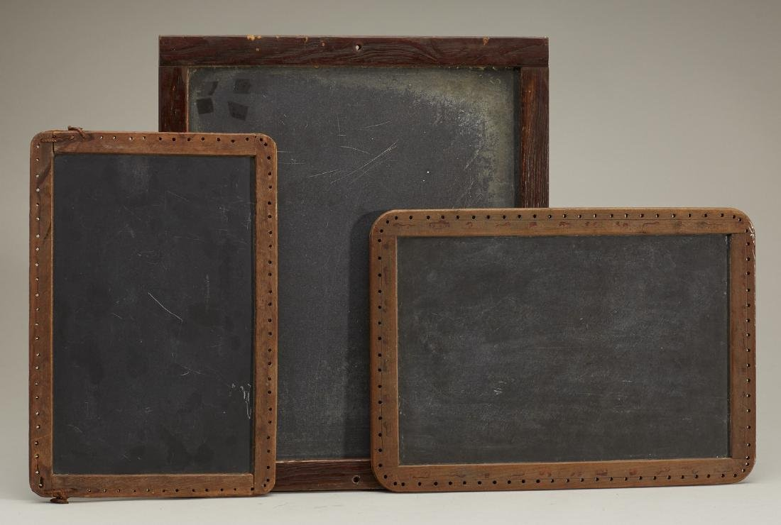Three Old Antique Wood Framed School Chalkboards
