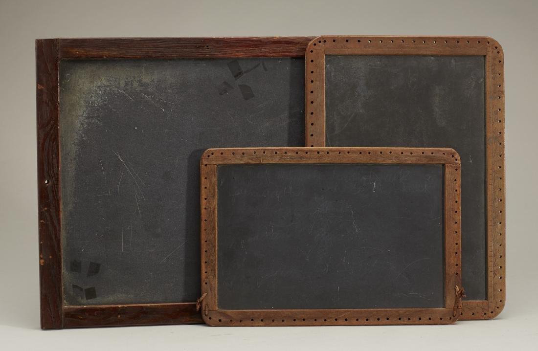 Three Old Antique Wood Framed School Chalkboards - 2