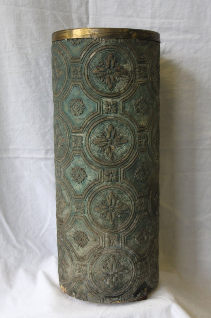 Antique Embossed Thick Paper Umbrella Stand