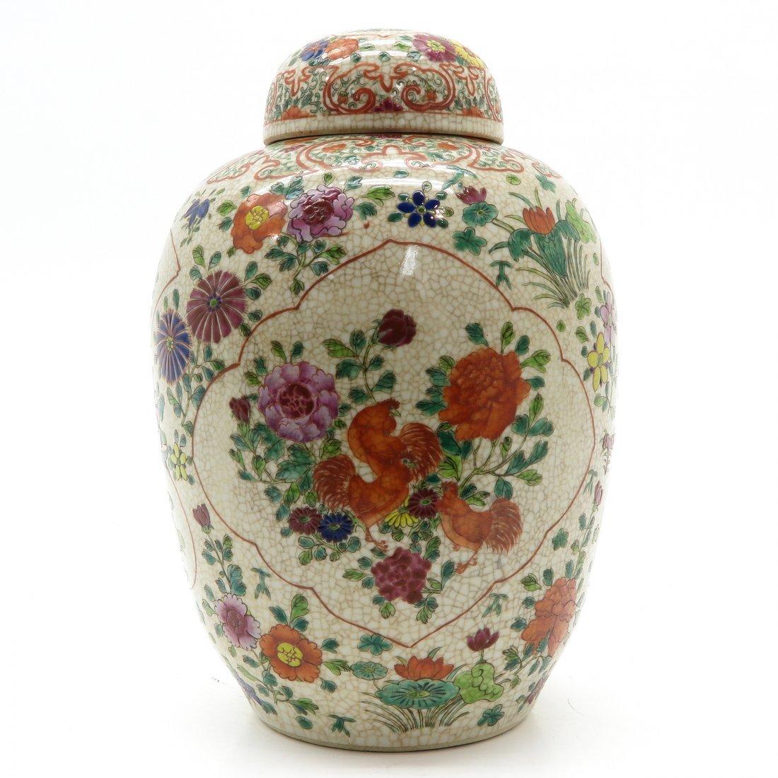 China Porcelain Crackleware Decor Lidded Pot