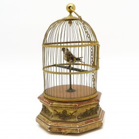19th Century Musical Bird Cage