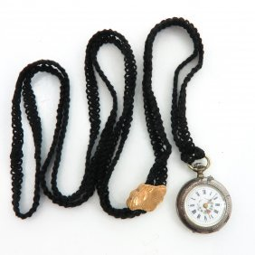 Ladies Watch on Mourning Chain