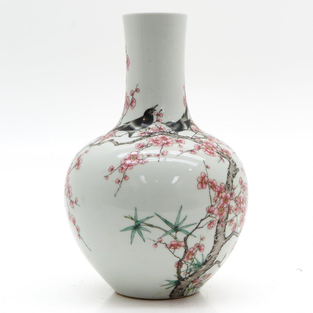 China Porcelain Vase Depicting Birds in Trees