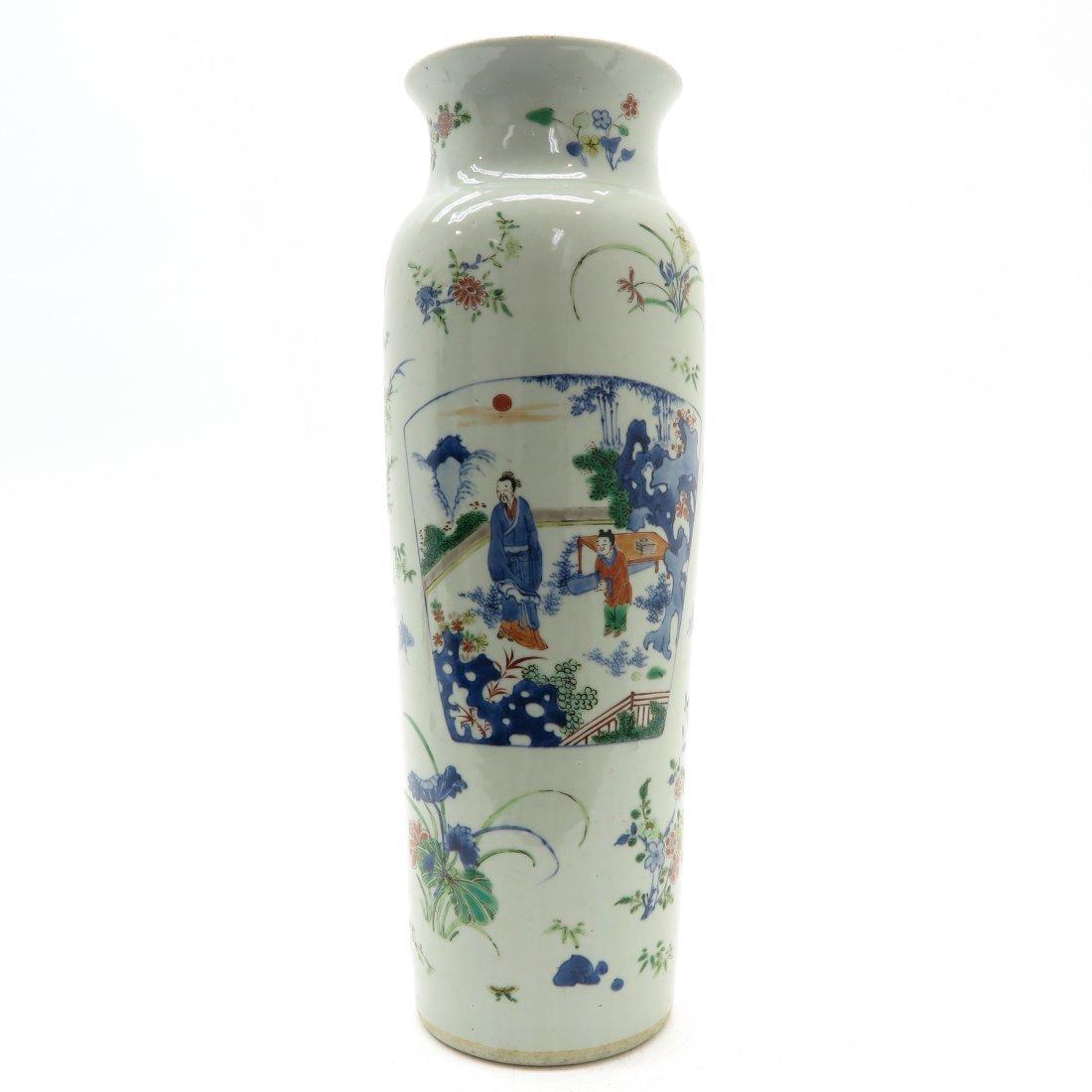China Porcelan Famille Verte Decor Vase