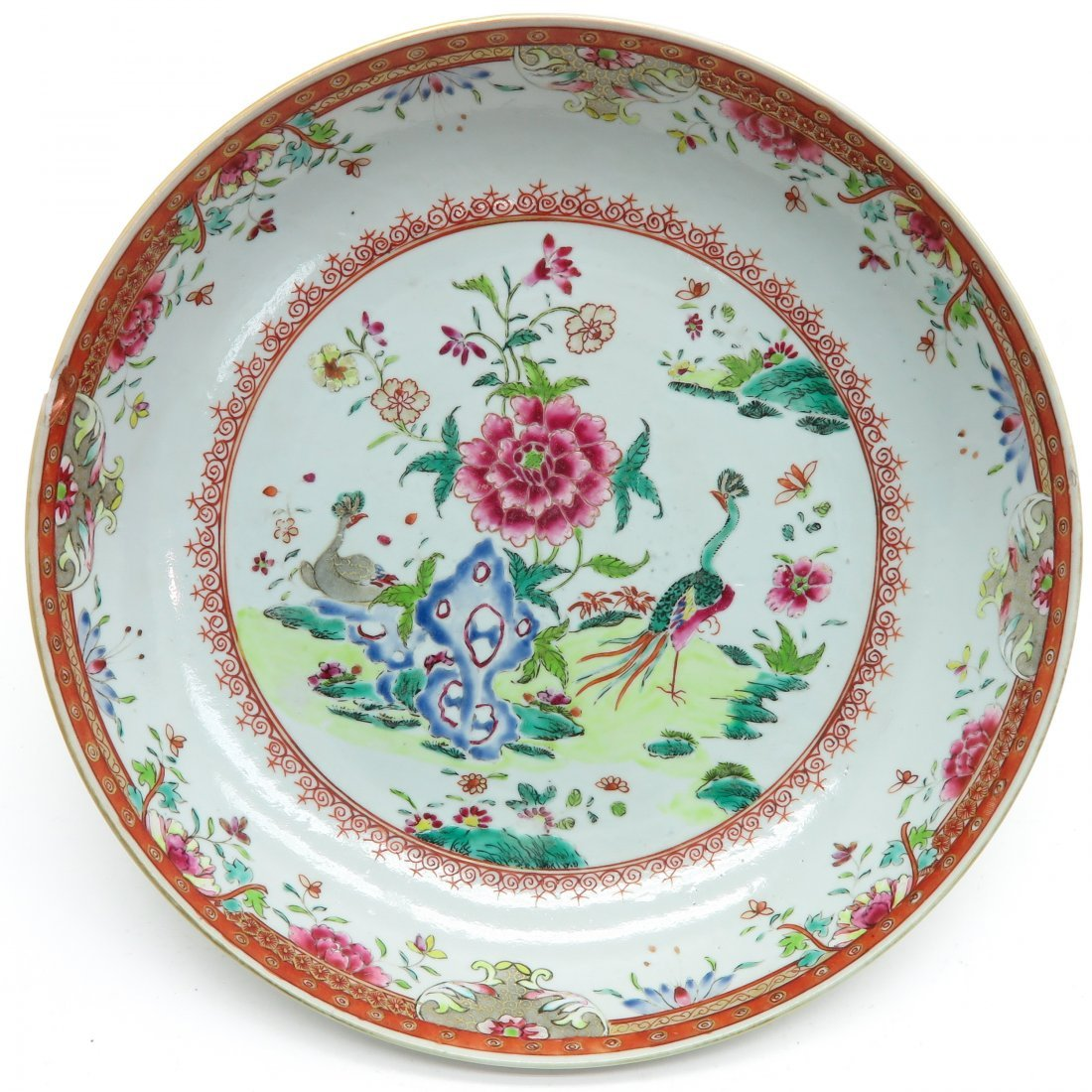 18th Century China Porcelain Famille Rose Decor Plate