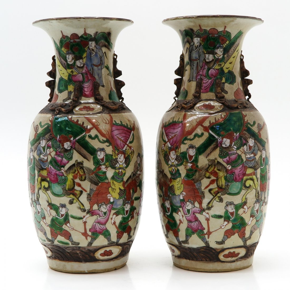 Lot of 2 Nanking Vases