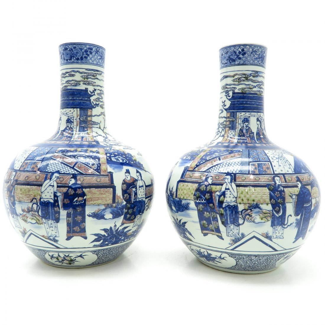 Pair of China Porcelain 19th Century Vases