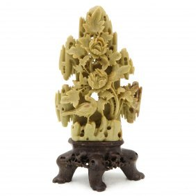 Carved Soapstone Sculpture