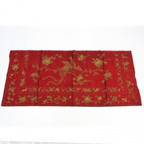 Chinese Embroidered Silk Textile