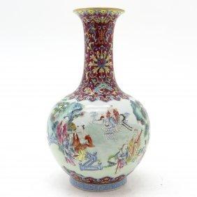 China Porcelain Polychrome Decor Daoguang Vase