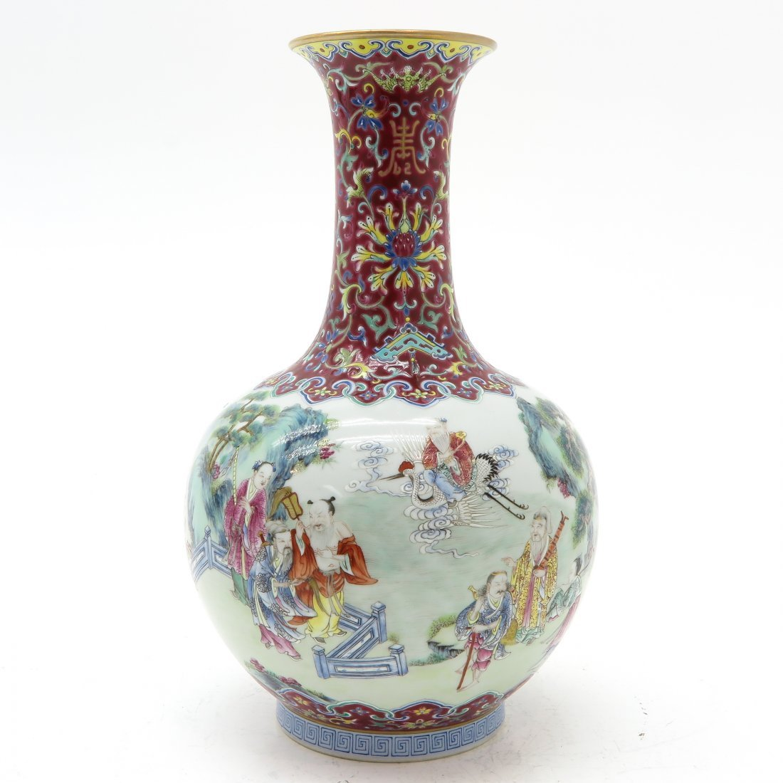 China Porcelain Polychrome Decor Daoguang Vase