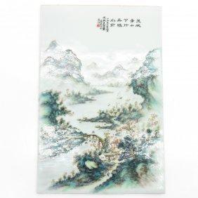 Signed China Porcelain Plaque