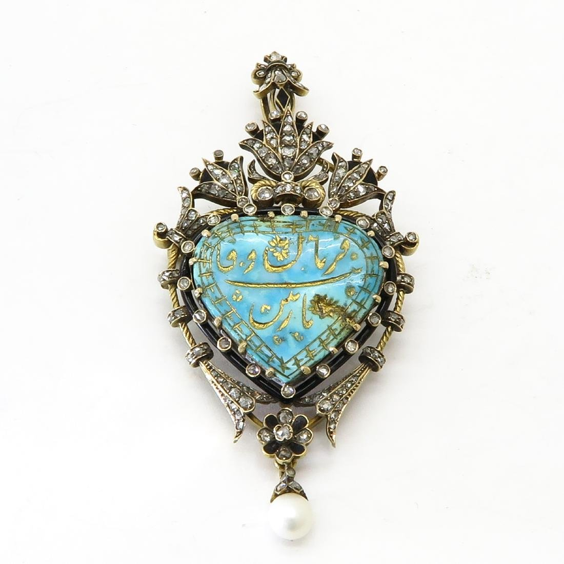 Antique Persian Brooch with Diamonds for Sjah of Persia