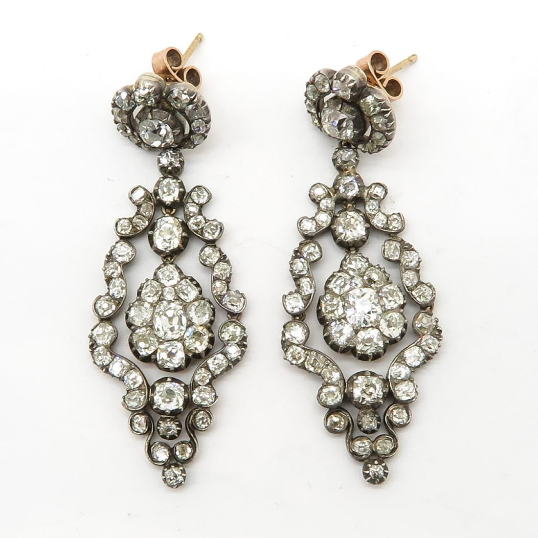 A Beautiful Pair of Diamond Victorian Earrings