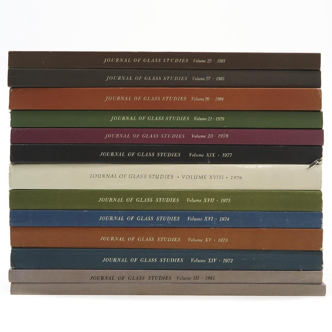 Diverse Lot of 13 Journal of Glass Studies Books
