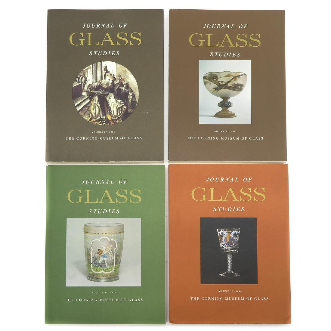 Diverse Lot of 13 Journal of Glass Studies Books - 2