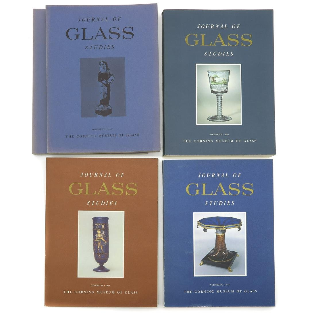 Diverse Lot of 13 Journal of Glass Studies Books - 4
