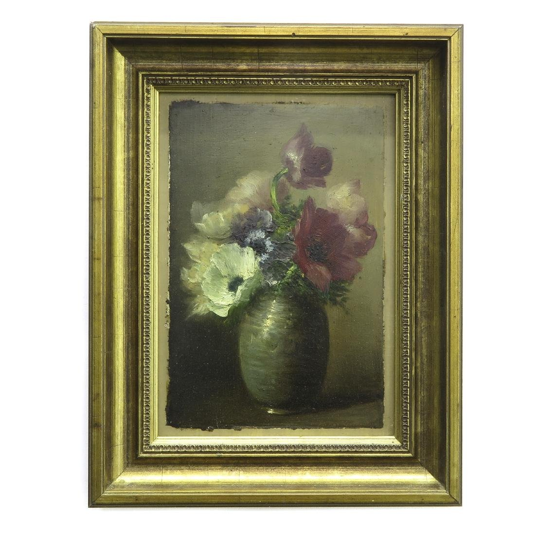 Signed Oil on Panel Depicting Still Life