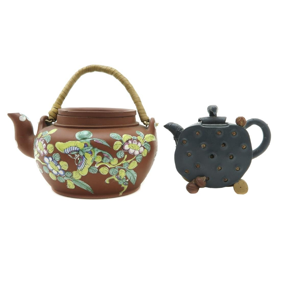 Lot of 2 Yixing Teapots