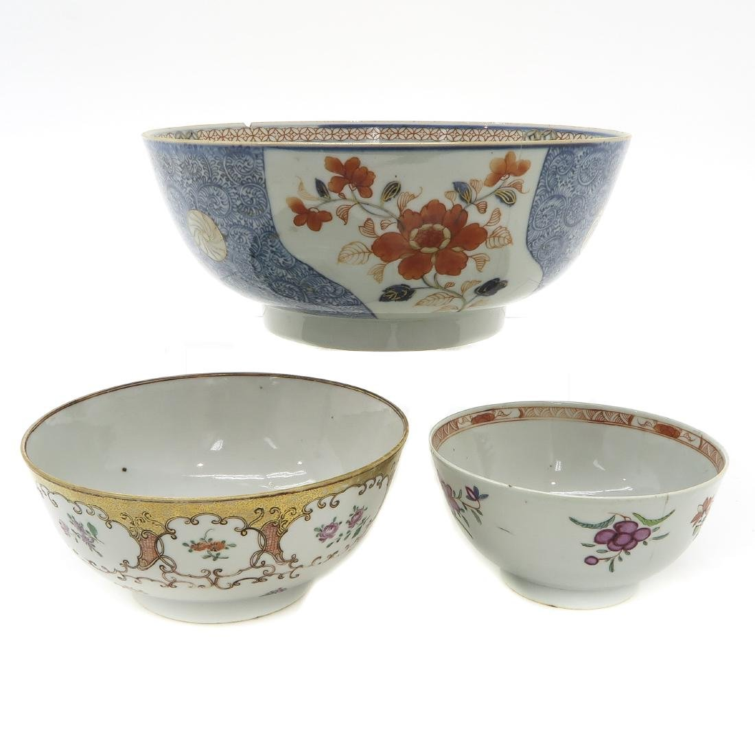 Lot of 3 Bowls - 4