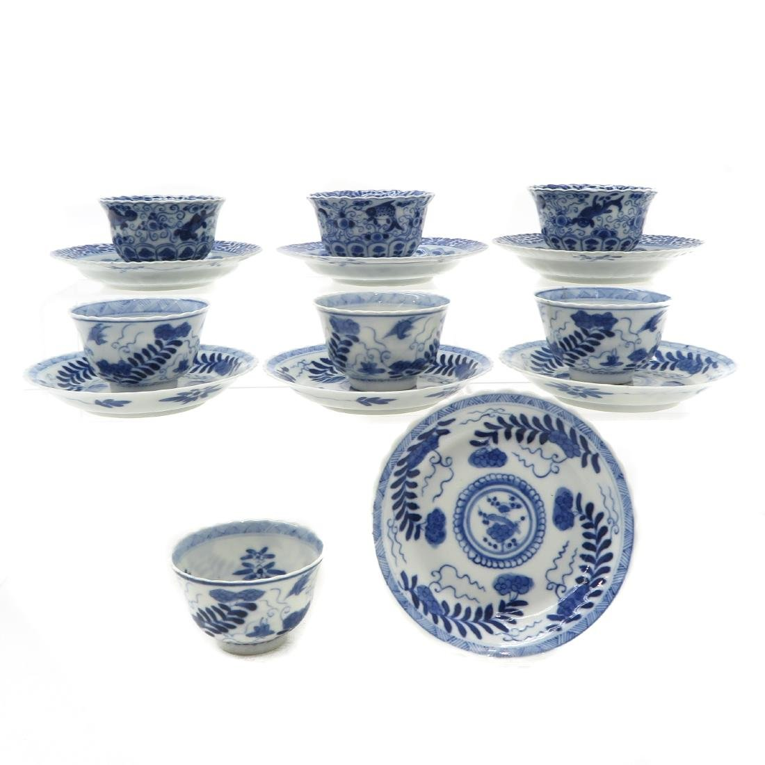Diverse Lot of Cups and Saucers
