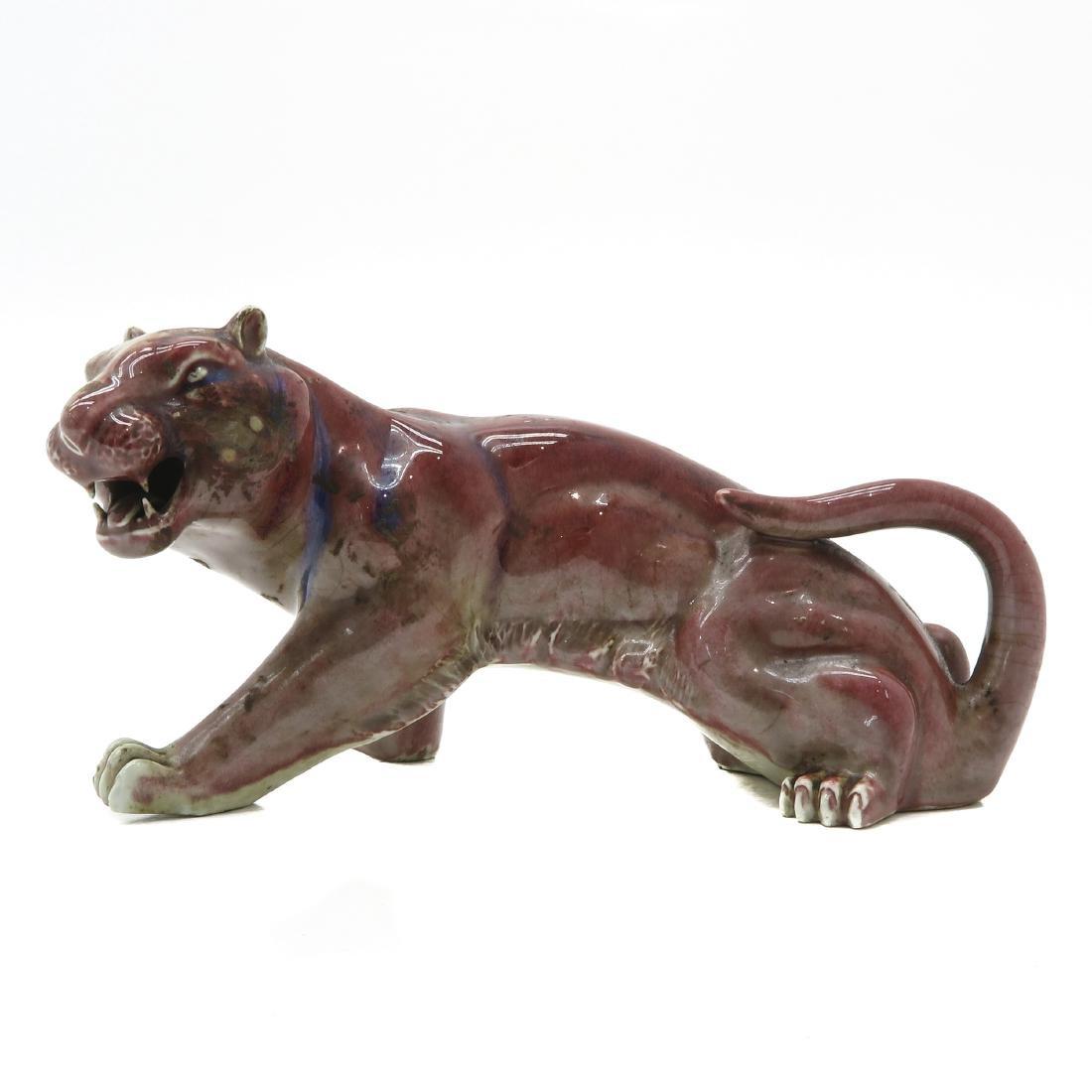 Porcelain Tiger Sculpture