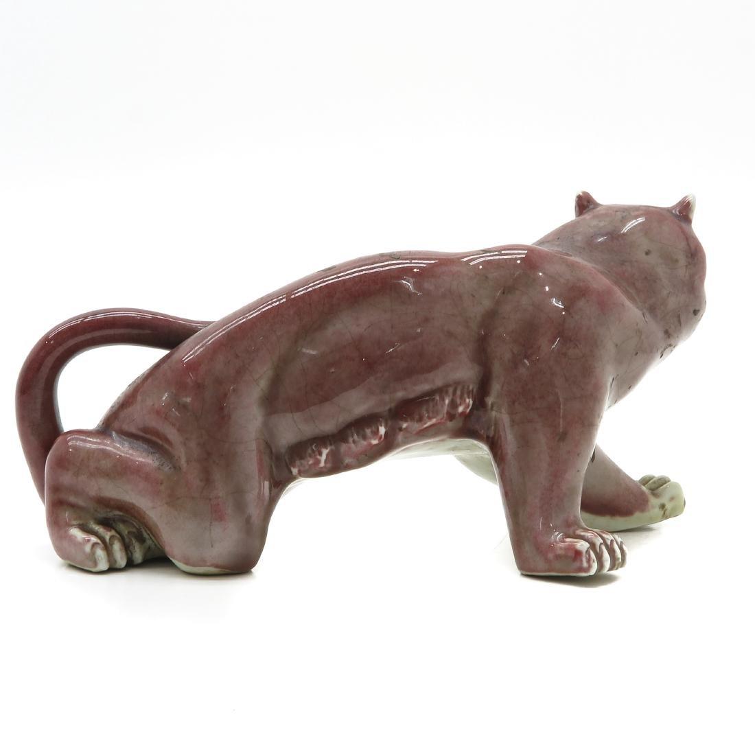 Porcelain Tiger Sculpture - 3