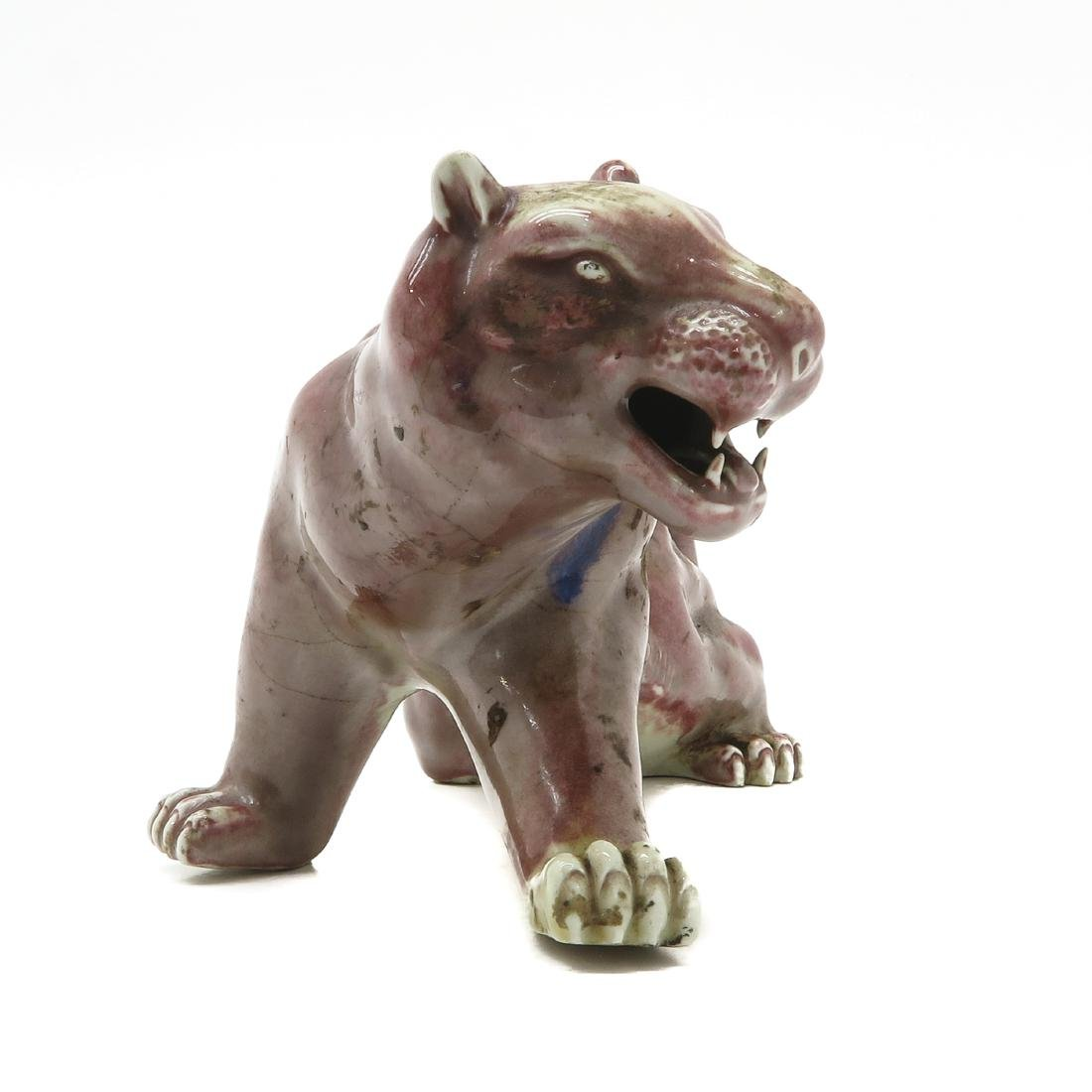 Porcelain Tiger Sculpture - 4