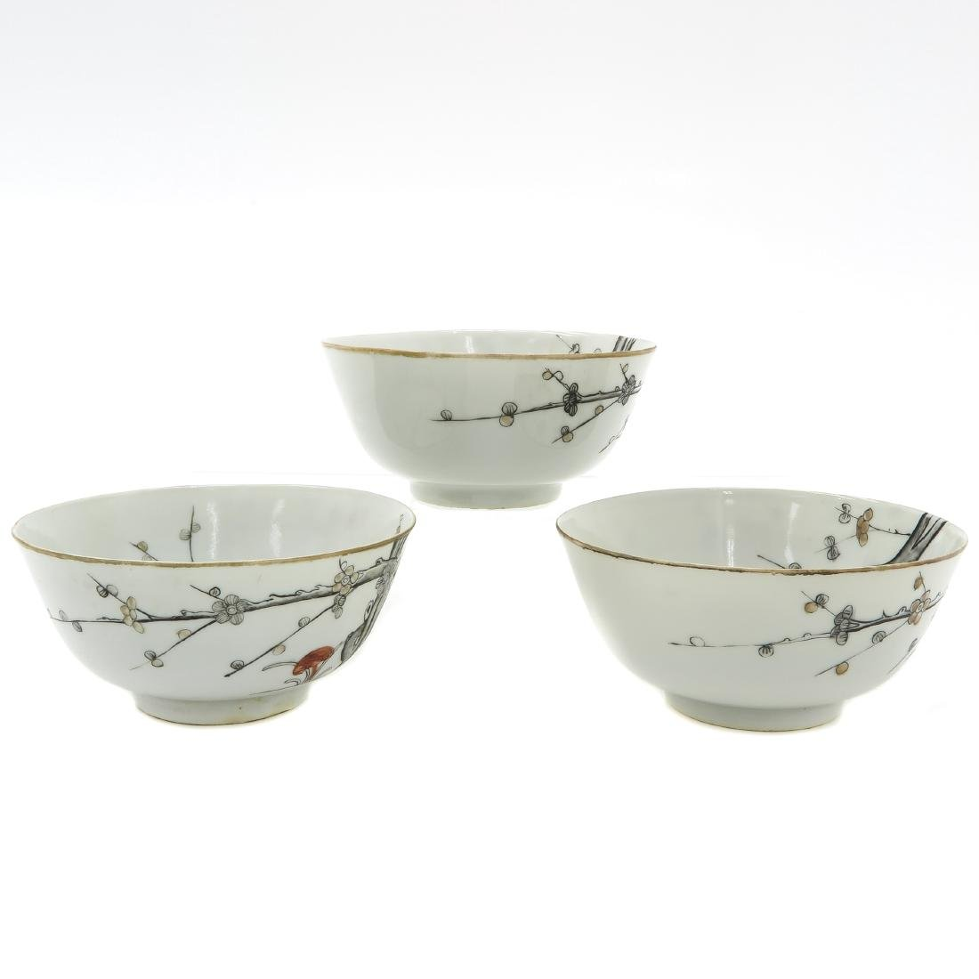 Lot of 3 Bowls - 4