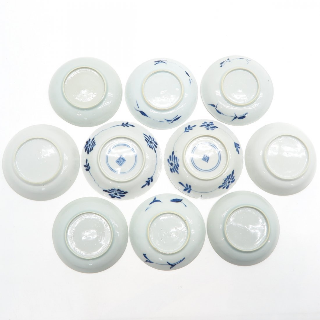 Lot of 10 Small Plates - 2