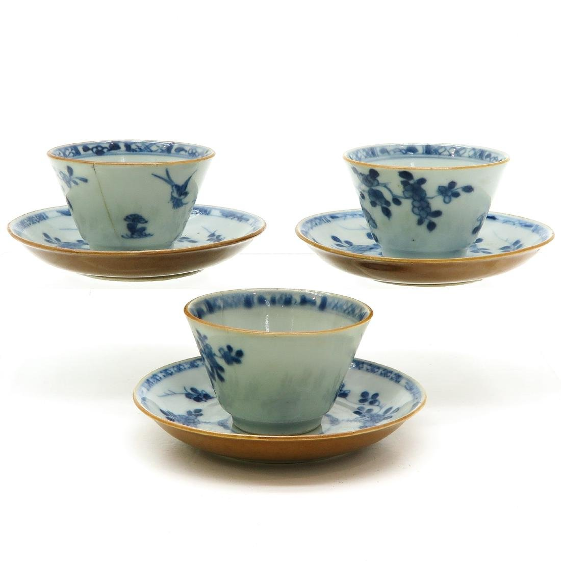 Lot of 3 Cups and Saucers - 2