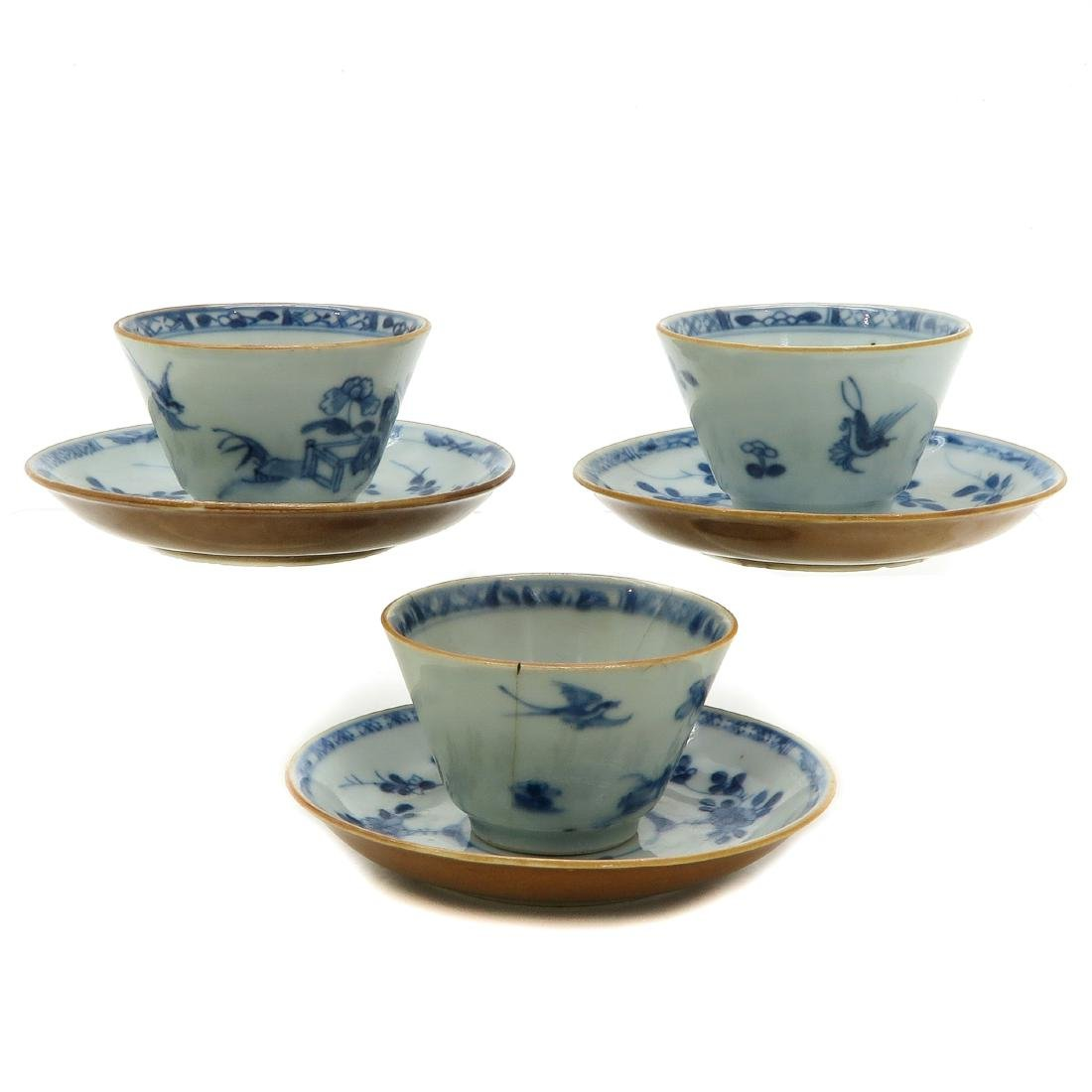 Lot of 3 Cups and Saucers - 3