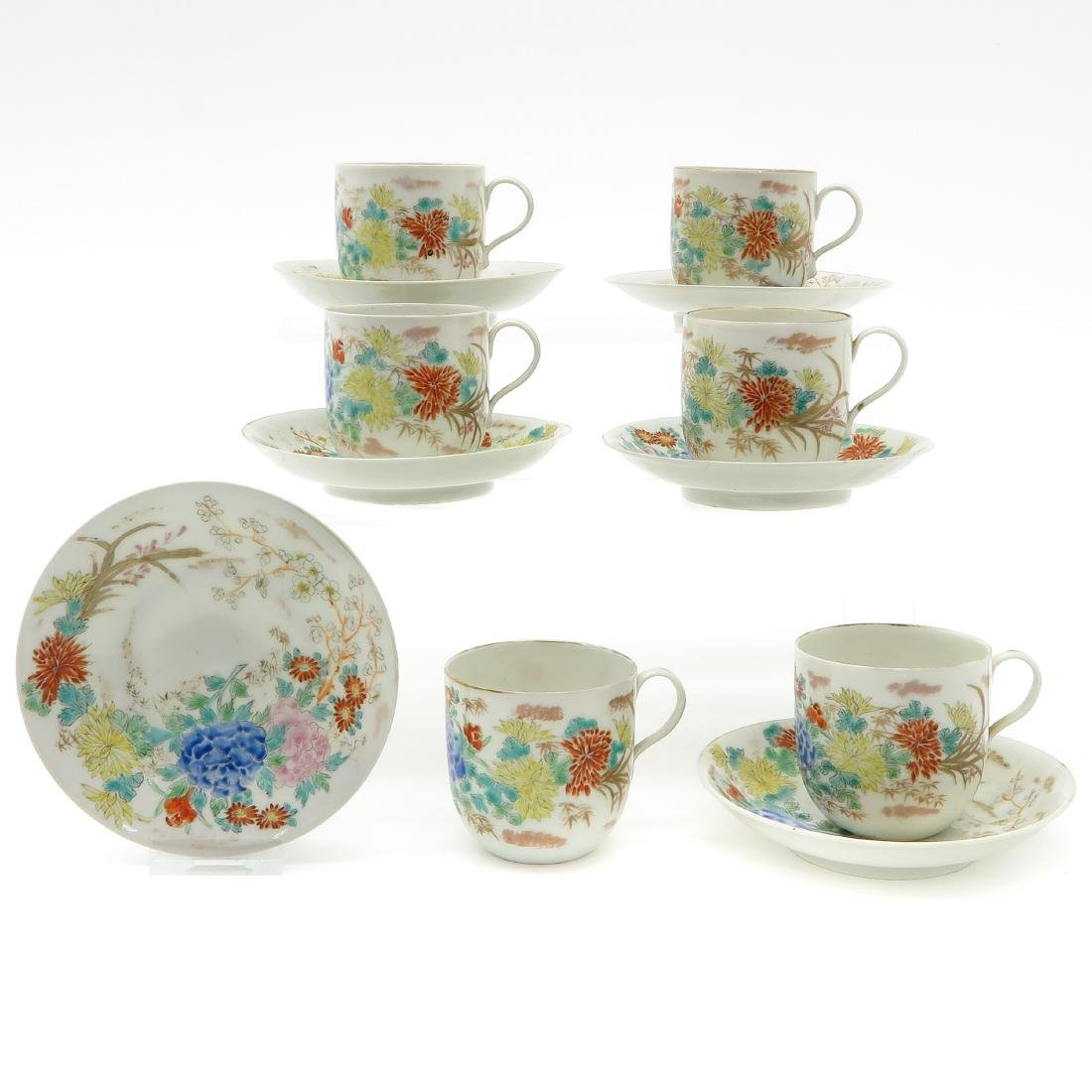 Lot of 6 Cups and Saucers
