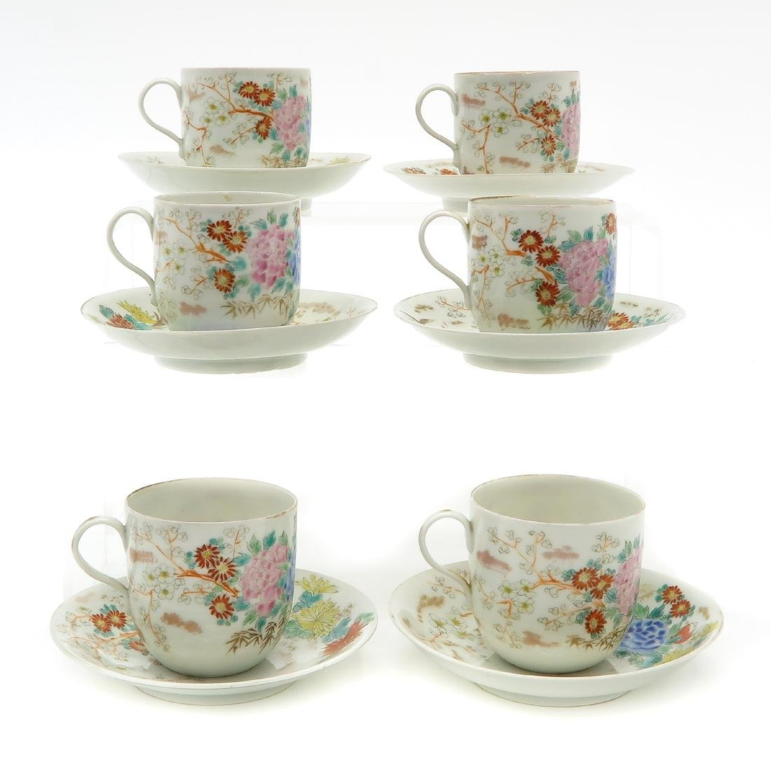 Lot of 6 Cups and Saucers - 2