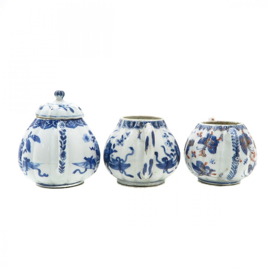 Lot of 3 Teapots - 2