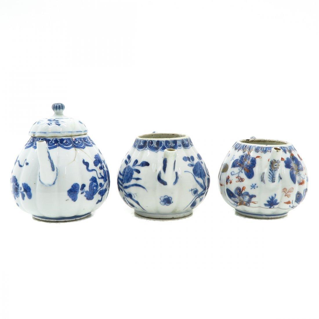 Lot of 3 Teapots - 4