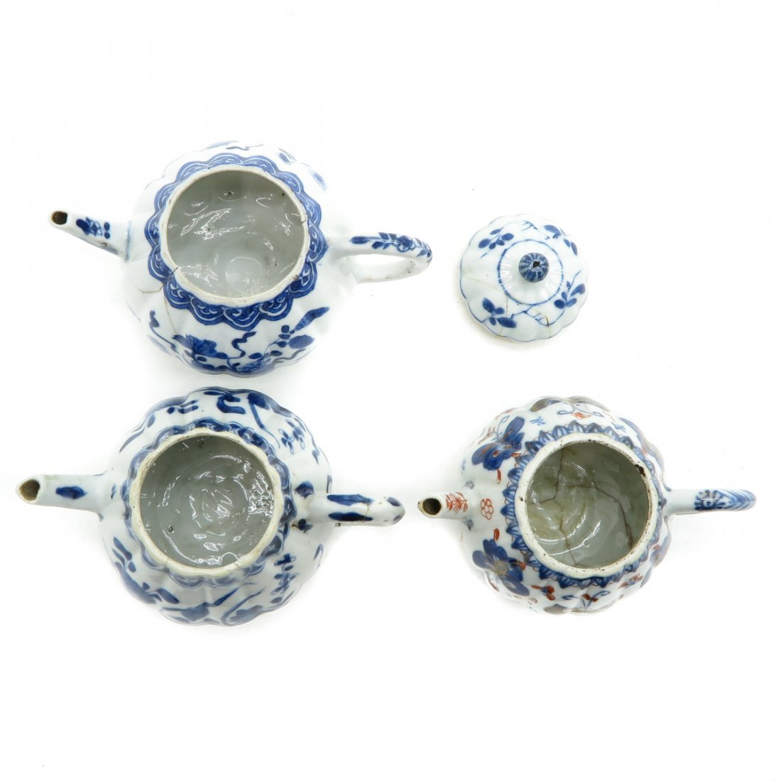 Lot of 3 Teapots - 5