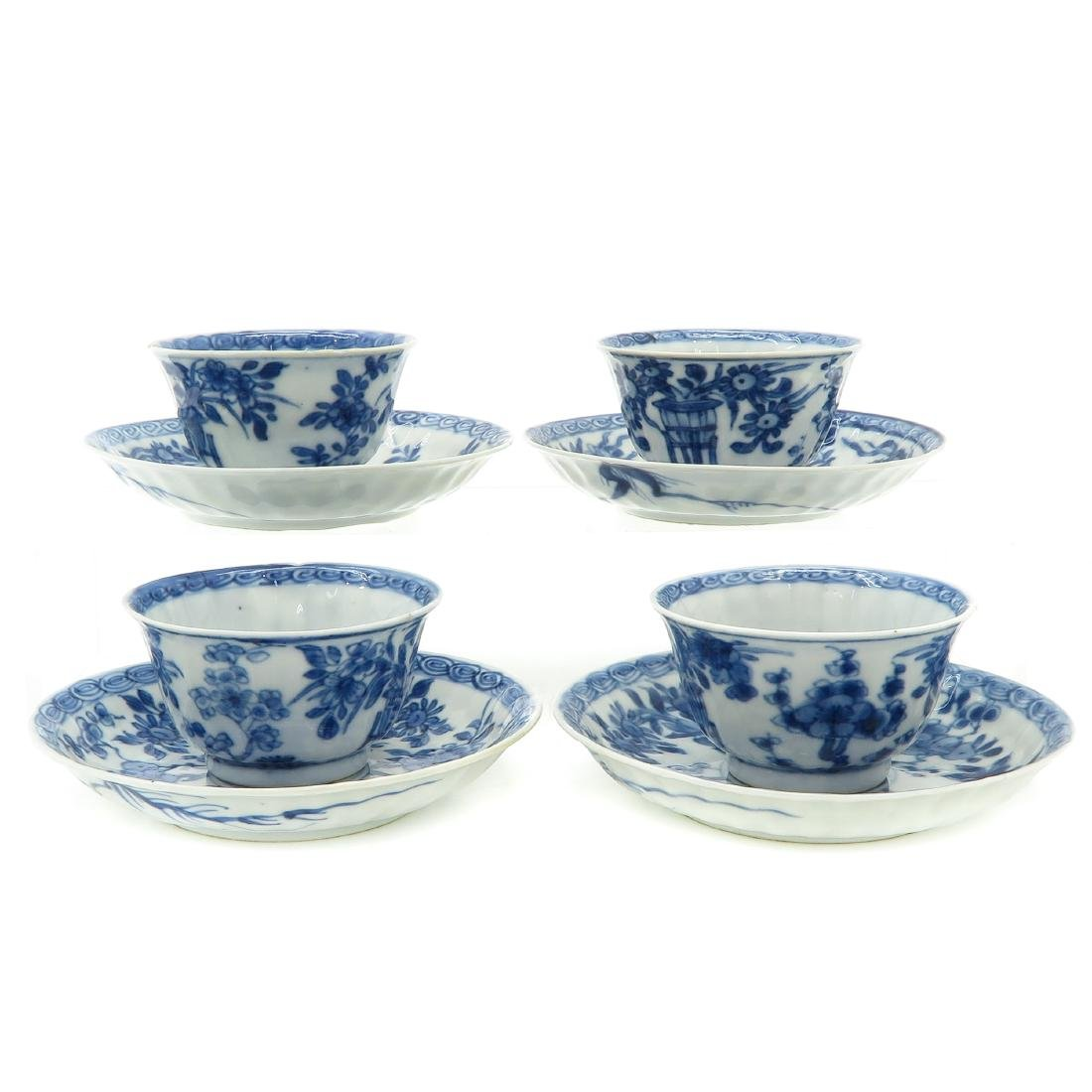 Lot of 4 Cups and Saucers - 2