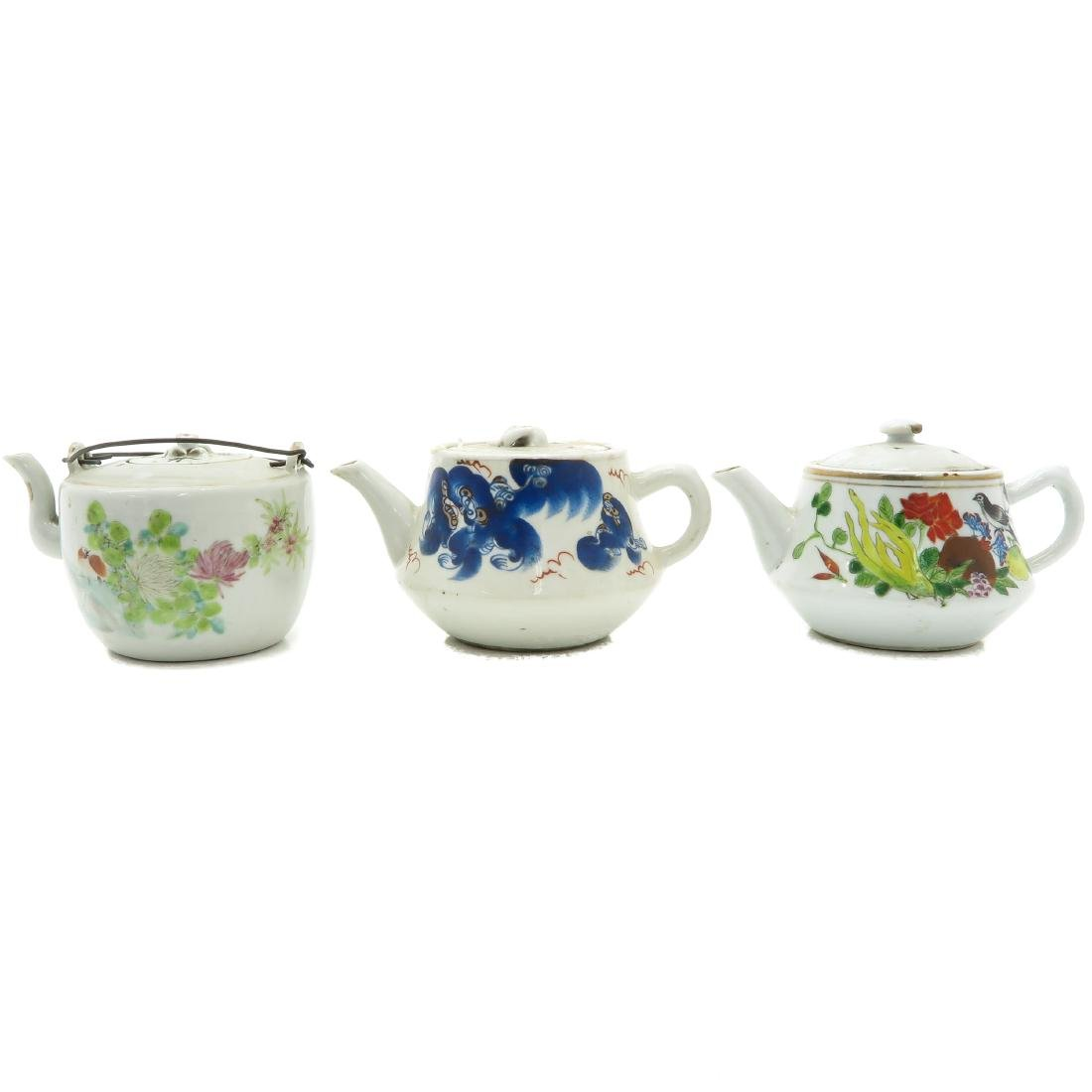 Lot of 3 Teapots