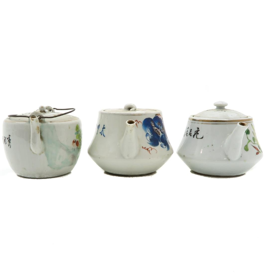 Lot of 3 Teapots - 3