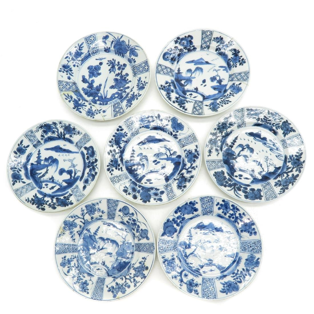 Lot of 7 Plates
