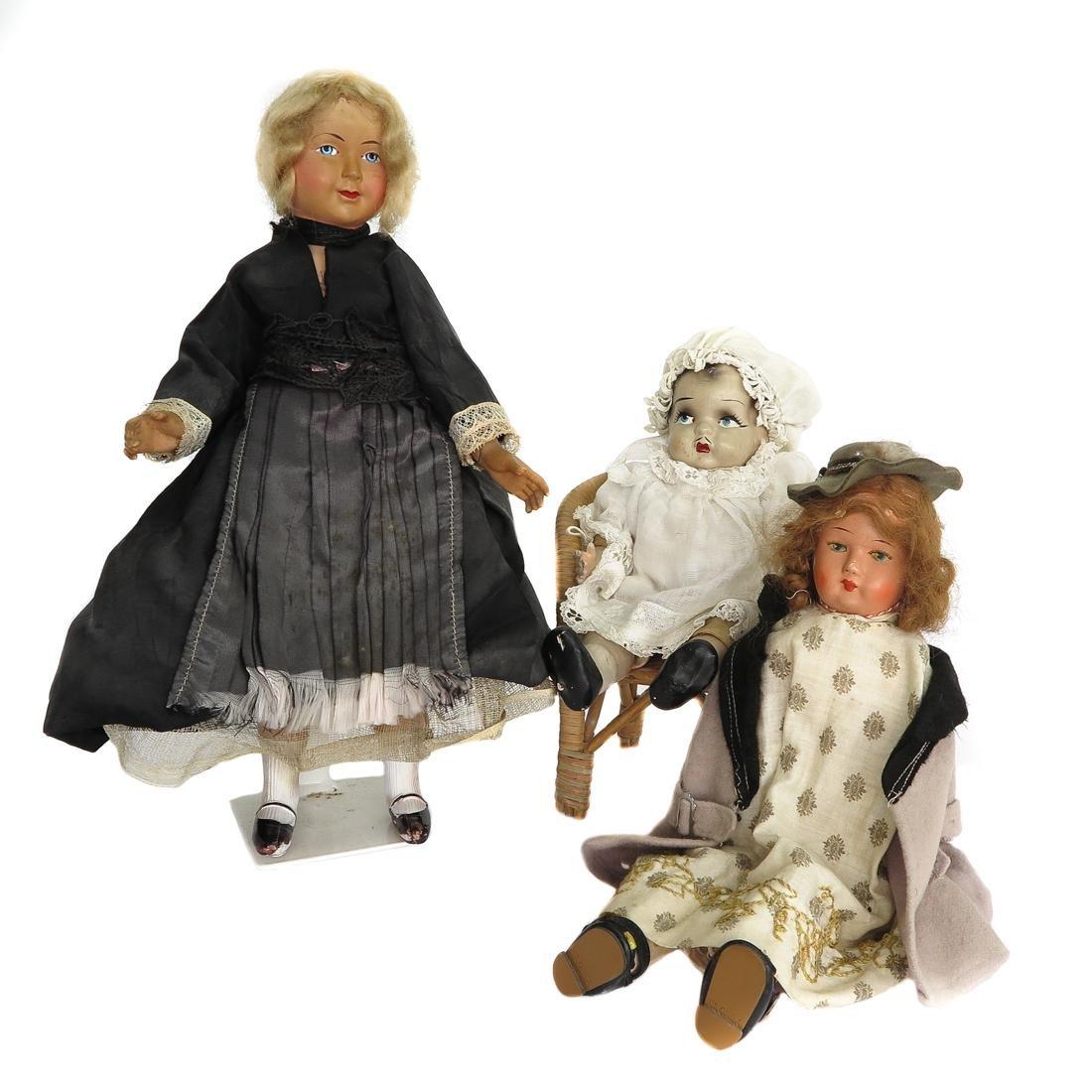 Lot of 3 Vintage Dolls