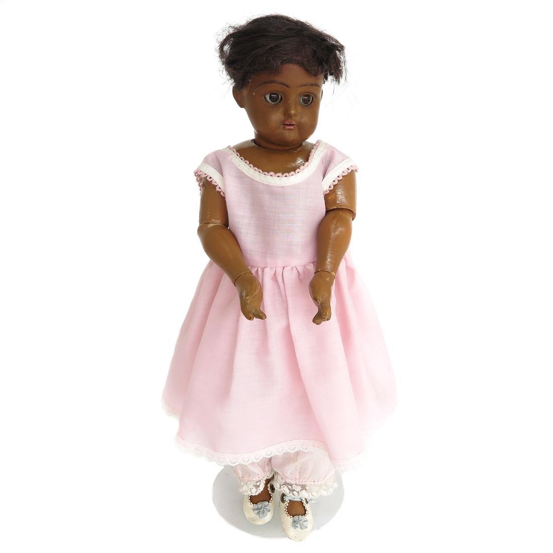 Vintage Composition Black Doll