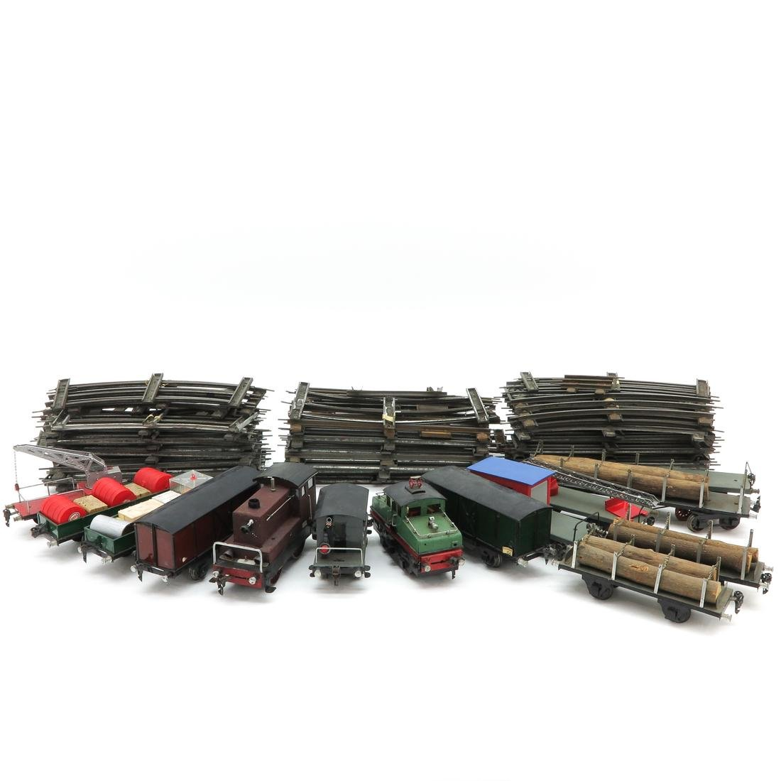 Diverse Lot of Vintage Marklin Cars and Rails